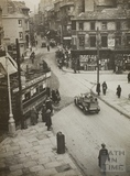 Electric tram, Kingsmead Square, Bath 1925