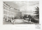 Camden Crescent, Bath (Incorrectly labelled Lansdown Crescent) 1829
