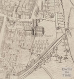 The Savile Map of Bath, the Abbey and surrounding area 1603 - detail