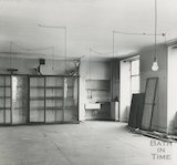 Bath Reference Library, Queen Square premises - empty showcases, 1964
