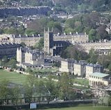 View of the Recreation Ground and Bathwick from Beechen Cliff, c.1988