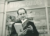 Author Kenneth Clew with his latest book, 5 April 1971