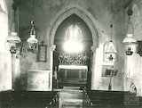 The interior of Ditteridge church, c.1920s