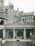 Roman Baths, Great Roman Baths looking North East, c.1900