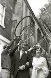 The Milk Race wedding in Bath, 5 June 1971