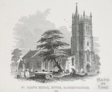 St Mary's Church Bitton from N.E., 1848