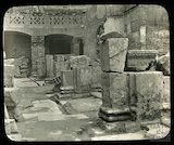 The partially excavated Roman Great Bath, 1885