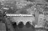 Looking down on Pulteney Bridge, Bath, 13 February 1967