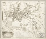 A New and Correct Plan of the City of Bath from a recent survey by B. Donne 1813