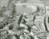 c.1960s Aerial view of the Circus looking towards the Royal Crescent, Bath