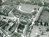 1971 Aerial view of the Royal Crescent and St James Square, Bath (From North)