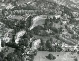 c.1971 Aerial view of Lansdown Crescent, Somerset Place and Cavendish Crescent, Bath