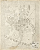A New and Correct Plan of the City of Bath and place adjacent 1750