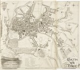 1810 A New and Correct Plan of the City of Bath from a recent survey by B. Donne
