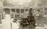 Roman artefacts shown at the newly excavated Roman Baths in Bath, 8th October 1890
