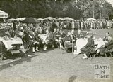 The Highland Regiment taking tea at the mayoral garden party, Royal Victoria Park, June 20 1929