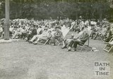 Visitors in deckchairs in Royal Victoria Park, June 20 1929
