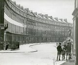 Norfolk Crescent, Bath in the snow, c.1950s