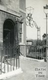 Ironwork outside 1, Widcombe Crescent, Bath, c.1920s