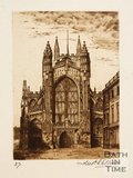 Etching of Bath Abbey, West front, 1886