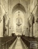 Interior of Bath Abbey looking east, c.1872