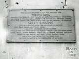 Sarah Siddons Plaque, Old Theatre Royal, Old Orchard Street, Bath, 1948