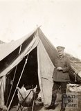 Colonel F. Gascoigne at camp on the Island of Imbros (G̦k̤eada), Turkey