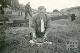 Fishing at First Pond at Kennet and Avon Canal, Bath, 20 July 1958