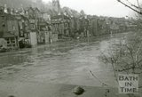 The rear of Claverton Street taken from the halfpenny bridge during the Bath Flood, 1960