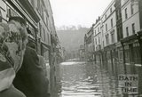 Looking down Southgate Street during the Bath Flood of 1960