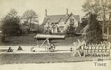 A cannon and the dairy at the entrance to Royal Victoria Park, Bath 1867