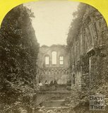 The ruined interior of Glastonbury Abbey c.1873