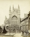 The west front of Bath Abbey from Abbey Church Yard, Bath 1864