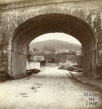 View under Brunel's railway bridge towards Bathford, near Bath, 1874