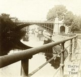 North Parade Bridge and the River Avon, Bath c.1880