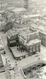 View from Bath Abbey tower looking down on York Street towards St James Church, c.1915