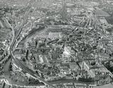 1964 Aerial view of Bath looking west