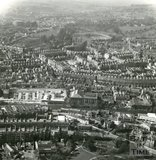 1965 Aerial view of Bath looking over Walcot towards the Royal Crescent