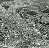 1957 Aerial view of Bath, June