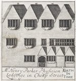 Mr Henry Parker Physician his Lodgings in Cheap Street, Bath, 1694