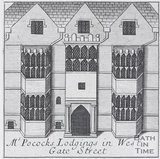 Ms Pocock's Lodgings in West Gate Street, Bath, 1694