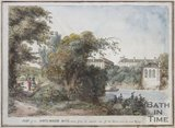 Part of the North Parade, Bath, taken from the opposite side of the River, near the new Bridge, 1788