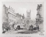 The Market Place, Bath, High Street and The White Lion Inn, 1842