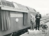 Unveiling the County of Avon locomotive at Bristol Temple Meads, 30 September 1984
