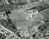 1966 Aerial view of St Marks and St Stephens School, Larkhall, Bath, January