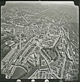 c.1969 Aerial view of Bath looking over Green park Station towards the Recreation Ground
