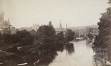 View of the River Avon from North Parade Bridge, Bath 1876
