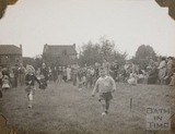 Wheelbarrow race, Charlton Park, Keynsham 1945