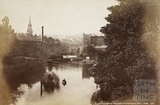 Pulteney Bridge from North Parade Bridge, Bath c.1880