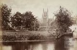 Bath Abbey from the River Avon, Bath c.1880